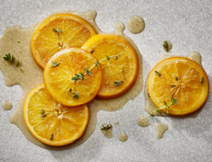 Oranges Simmered in Syrup