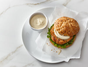 Salmon Burgers with Maple Syrup