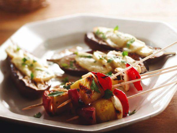 Recipe — Stuffed Eggplant with Halloumi and Maple