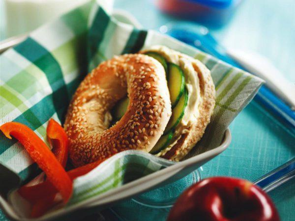 Recipe — Maple Cucumber Bagels