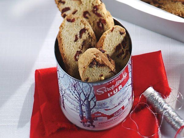 Recipe — Maple and Cranberry Biscotti