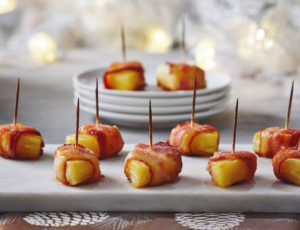 Maple Glazed Pineapple and Bacon Delights