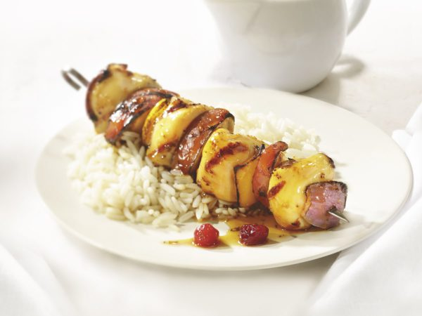 Recipe — Fruity Chicken Kebabs with Maple Syrup