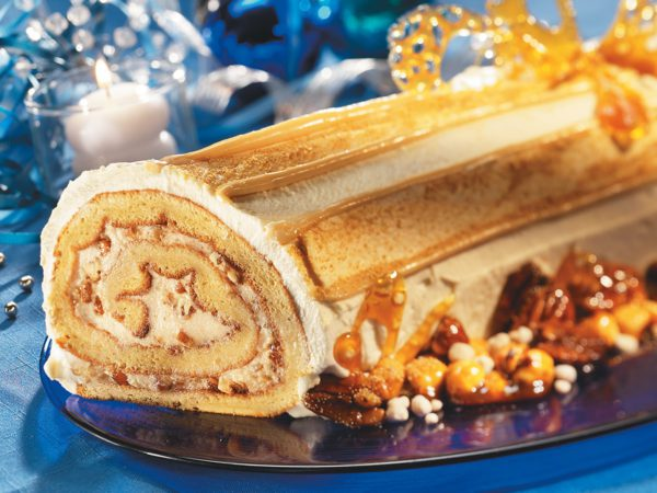Recipe — Holiday Log with Maple Syrup and Candied Nuts