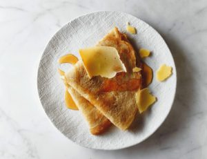 Crepes with Pears and Maple Syrup