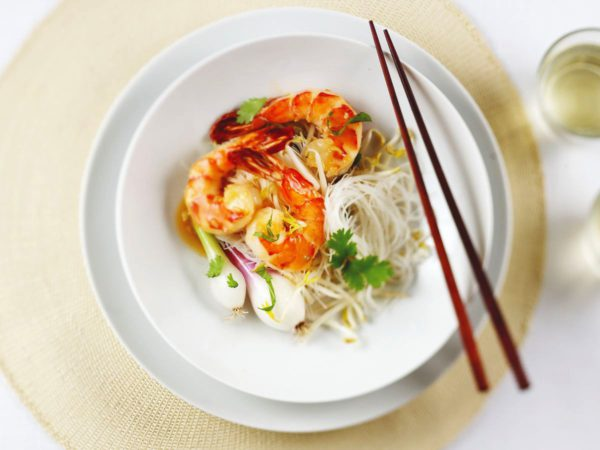 Recipe — Sautéed Shrimp with Thai Herbs and a Fine Maple Sauce