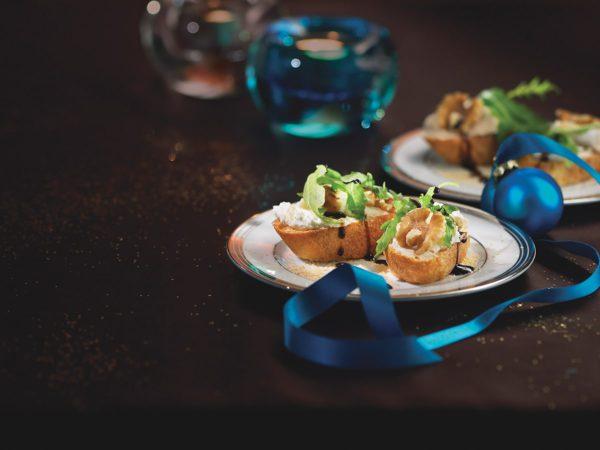 Recipe — Maple-Flavoured Goat Cheese Crostini