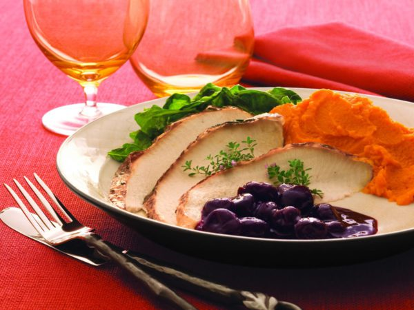 Recipe — Maple Cider Roasted Turkey with Cherry Compote