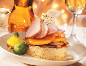 Maple Pork Tenderloin and Mushroom Risotto