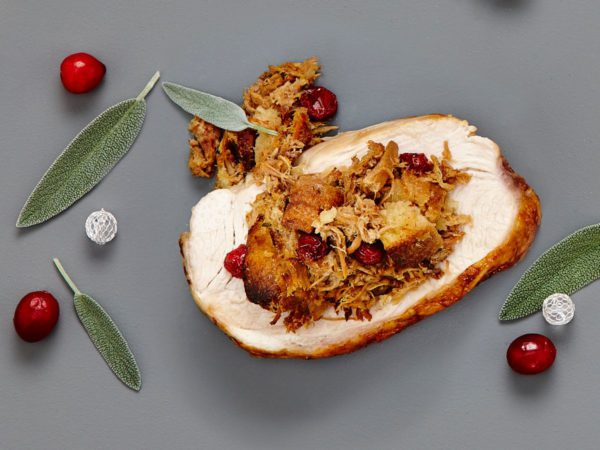 Recipe — Maple Taffy Pork Stuffing Roast Turkey