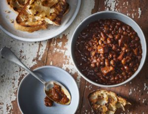 Maple Syrup Beans with Bacon