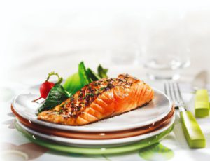 Maple Salmon Filet with Chives