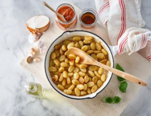 Maple Caramelized Gnocchi with Tomato Sauce