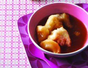 Dumplings & Apples in Maple Syrup