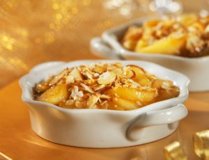 Apple and Almond Gratin With Maple Sugar Flakes