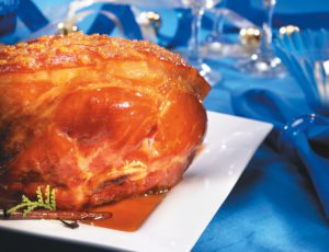 Ham with Beer and Maple Syrup