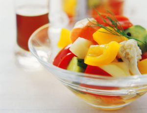 Bright Maple-Syrup Pickled Vegetables
