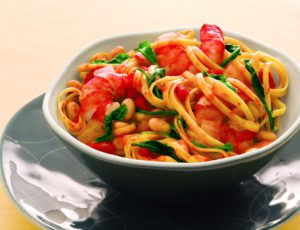 Linguine with White Beans & Shrimps