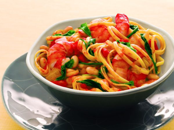 Recipe — Linguine with White Beans & Shrimps