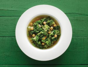 Green Minestrone with Amaranth and Maple