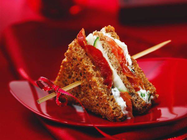 Recipe — Mini Club Sandwiches with Salmon Carpaccio and Maple