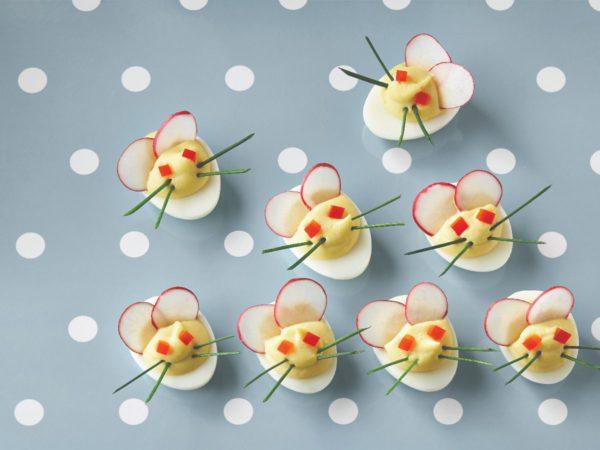 Recipe — Maple Flavoured Deviled Egg Mice