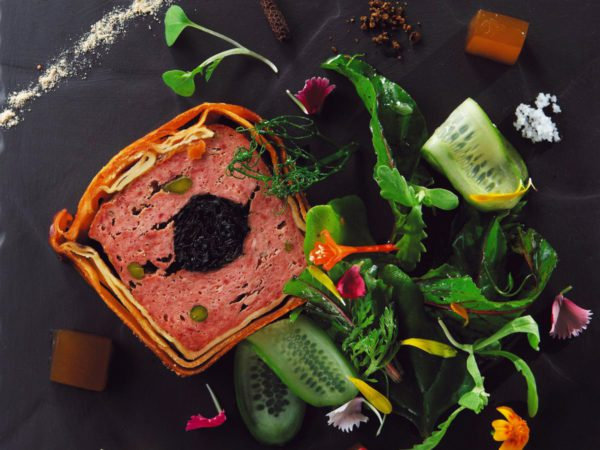 Recipe — Pigeon Pâté en Croûte, Horn of Plenty Chanterelles in Maple Syrup Confit