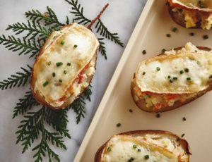 Cheese and Maple-Stuffed Potatoes