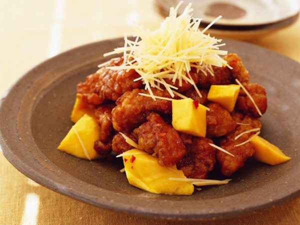 Recipe — Sour Fried Pork with Mango and Maple Syrup