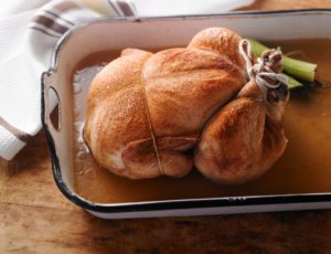 Chicken Poached in Maple Water