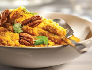 Sweet Potato Puree with Pecans and Maple Syrup