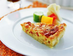 Caramelized Onion Quiche with Maple Syrup