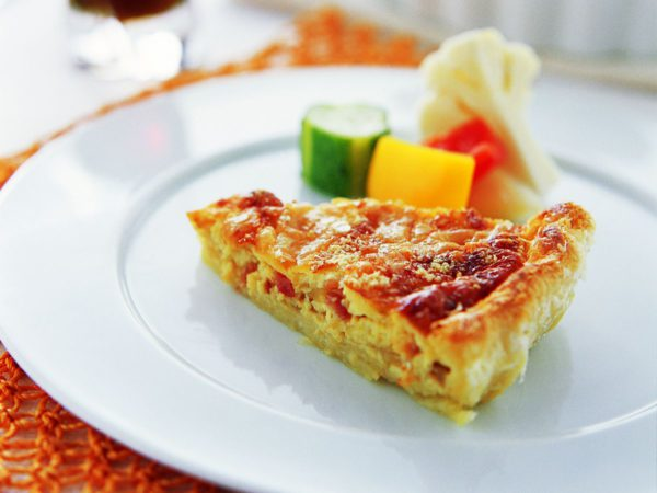 Recipe — Caramelized Onion Quiche with Maple Syrup
