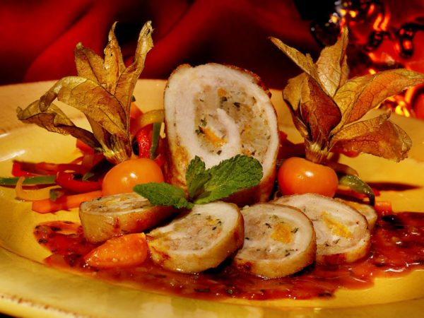 Recipe — Turkey Rolls with Maple Cherries