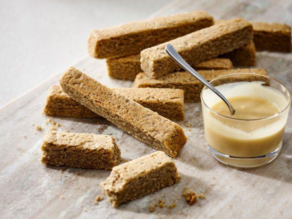 Recipe — Buckwheat Shortbread with Maple Sauce