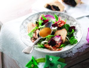 Dried Fruit and Vegetable Salad with Maple Vinaigrette
