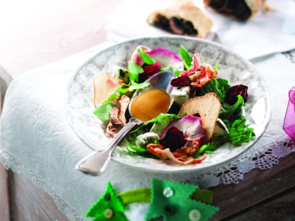 Recipe — Dried Fruit and Vegetable Salad with Maple Vinaigrette