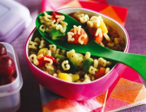 Maple Alphabet Pasta & Vegetable Salad