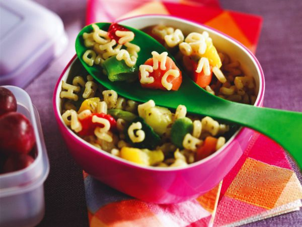Recipe — Maple Alphabet Pasta & Vegetable Salad