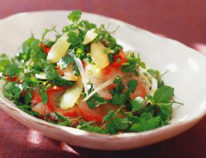 Sashimi Salad with Maple-Marinated Lemon