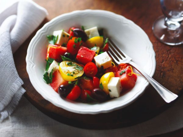 Recipe — Cherry Tomato and Honeydew Melon Salad with Maple Syrup