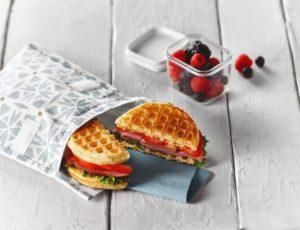 Ham and Maple Waffle Sandwich