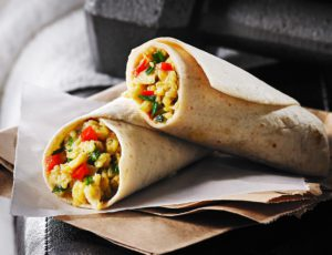 Egg, Maple and Red Pepper Wrap