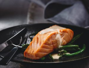Maple-Ginger Buttered Salmon