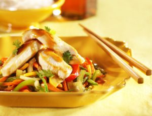 Teriyaki Chicken Stir-fry with Maple Syrup