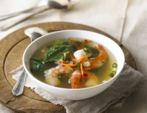 Shrimp Soup with Maple Water Broth