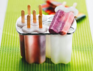 Coco-Maple Iced Lollies