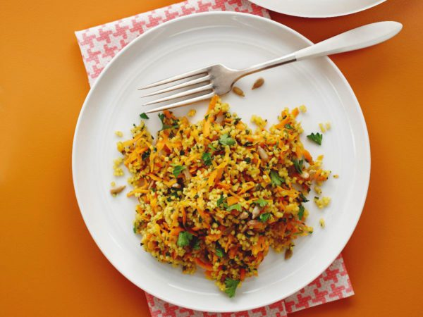 Recipe — Maple-Infused Carrot and Millet Tabbouleh