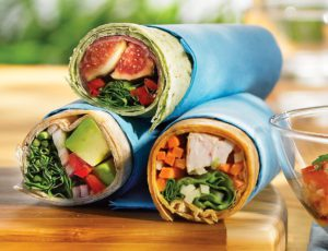 Maple-flavoured Vegetarian Wrap