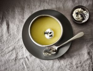 Recipe — White Beet Maple Velouté with Caviar Cream